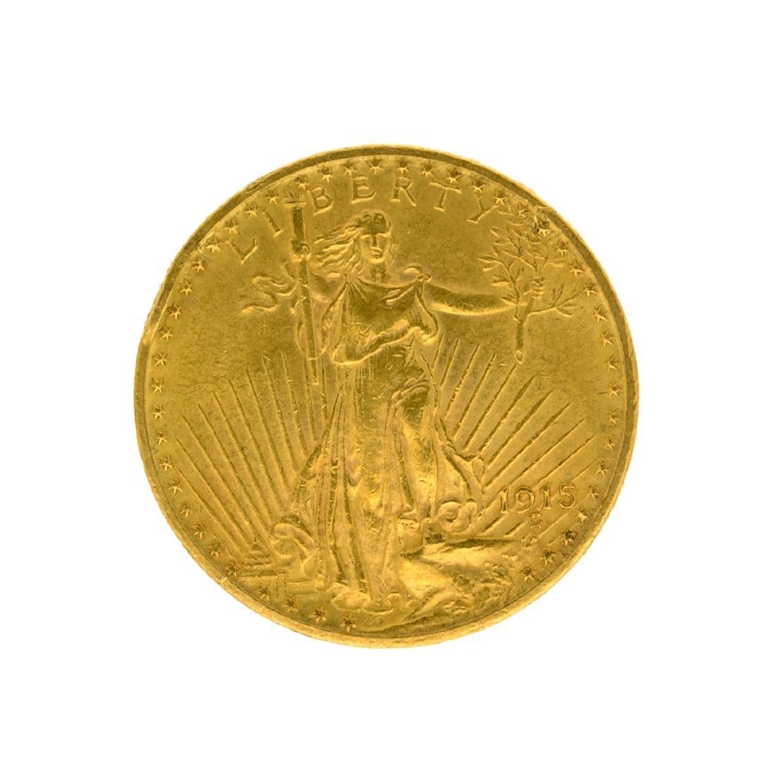 1915 $20 St. Gaudens U.S. Gold Coin