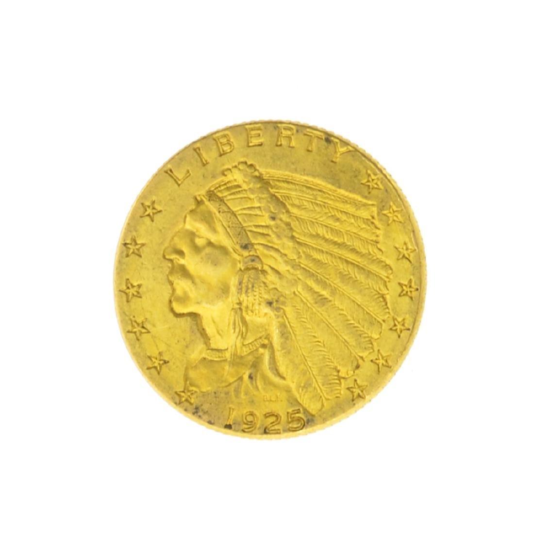 *1925-D $2.50 U.S. Indian Head Gold Coin (JG)