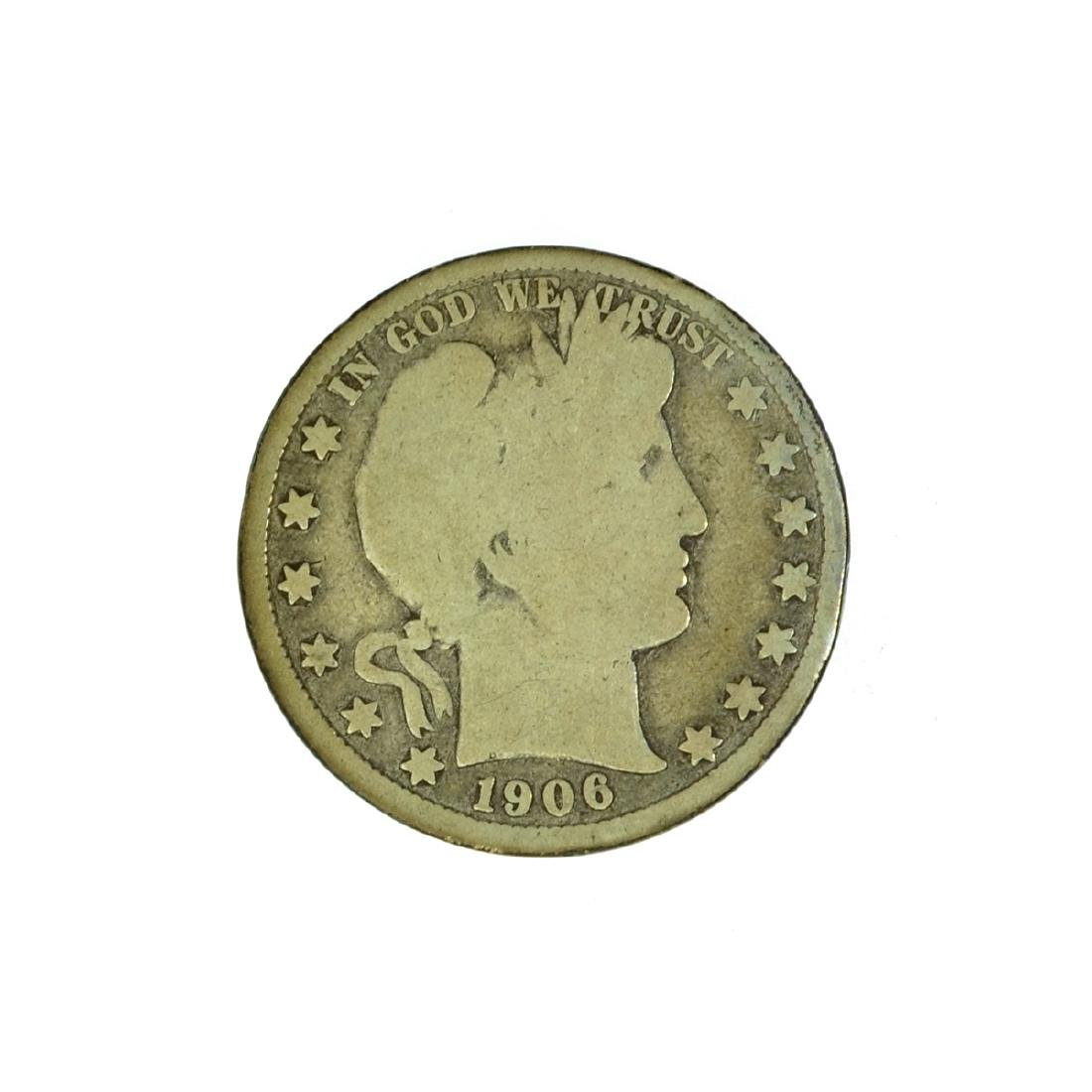 *1906-D Barber Half Dollar Coin (JG)