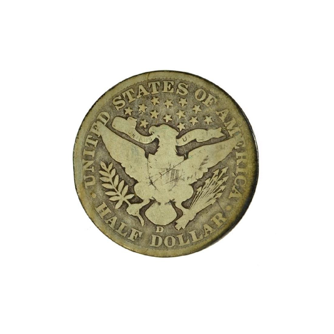 *1906-D Barber Half Dollar Coin (JG) - 2