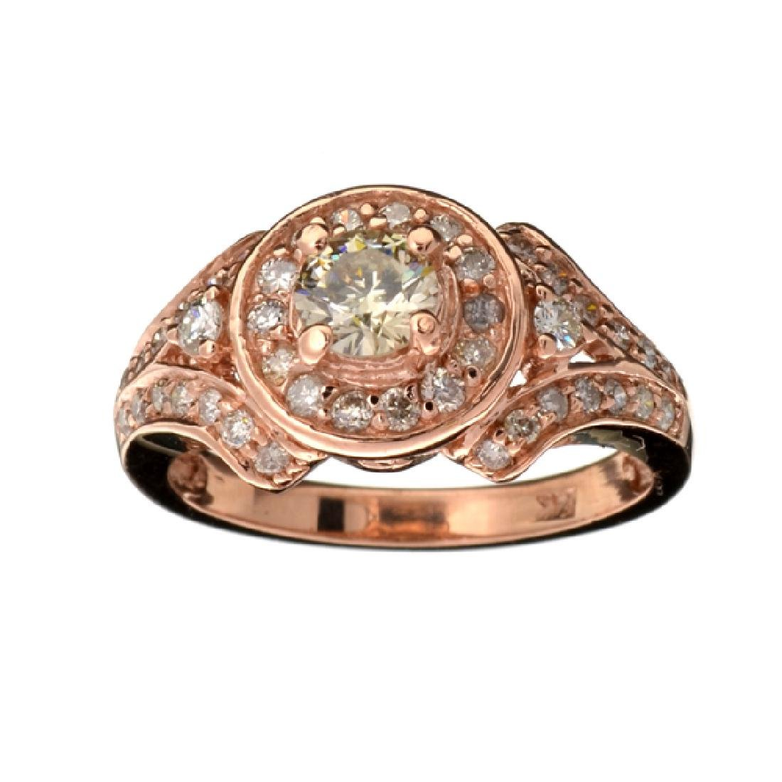 APP: 8.7k Fine Jewelry 14 kt. Rose Gold, 0.83CT Round