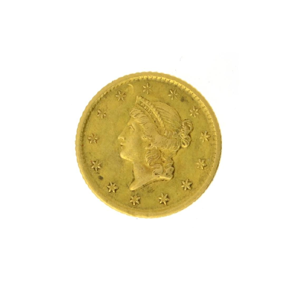 1853-O $1 Liberty Head Gold Coin