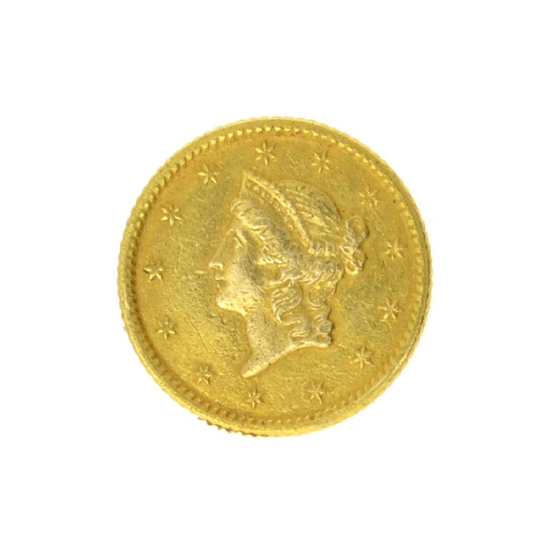1853 $1 Liberty Head Gold Coin