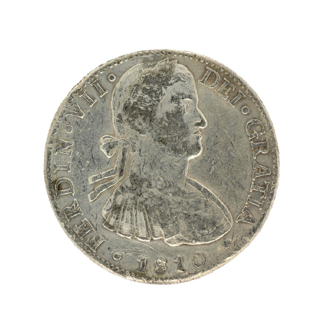 1810 Extremely Rare Eight Reales American First Silver