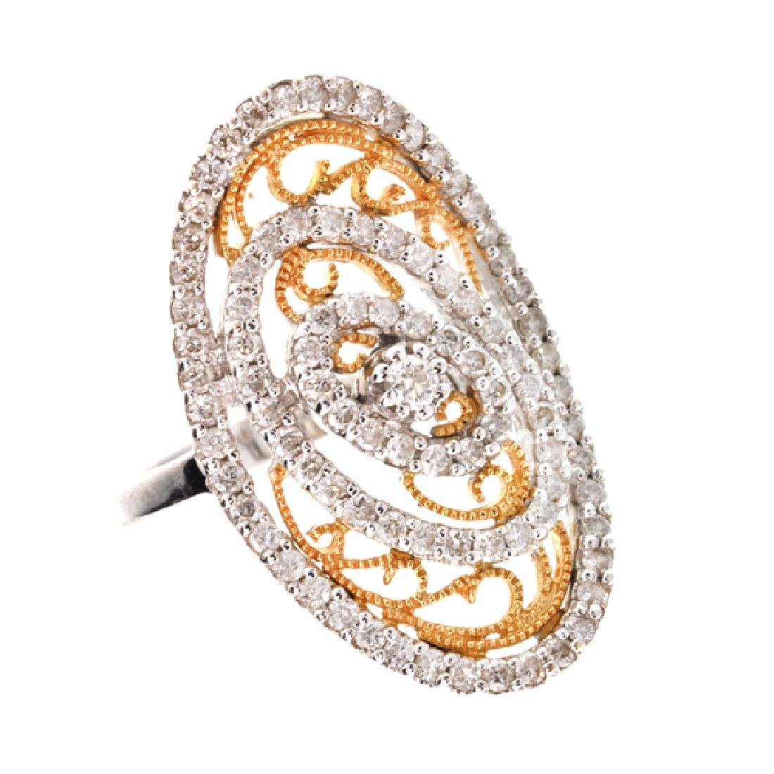 APP: 6k *18 kt. White and Yellow Gold, 0.97CT Diamond