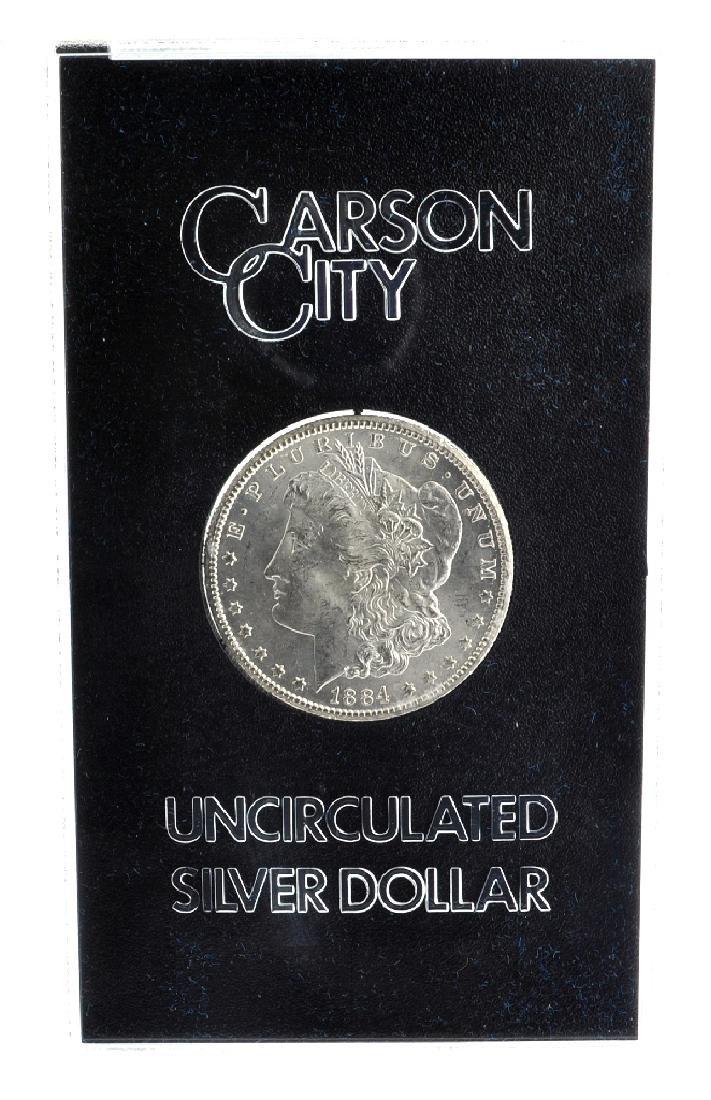 1884-CC Morgan Uncirculated Silver Dollar In Box Coin