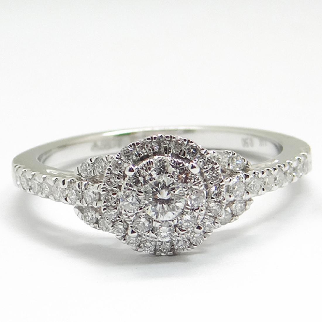 *Fine Jewelry 14 kt. White Gold, 0.50CT Round Cut