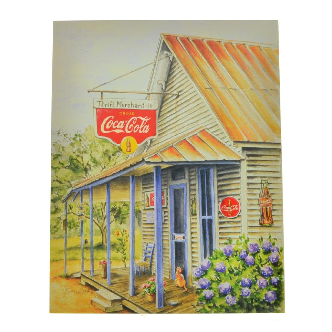 Collectable Coca Cola Advertising Poster (7.5'' x