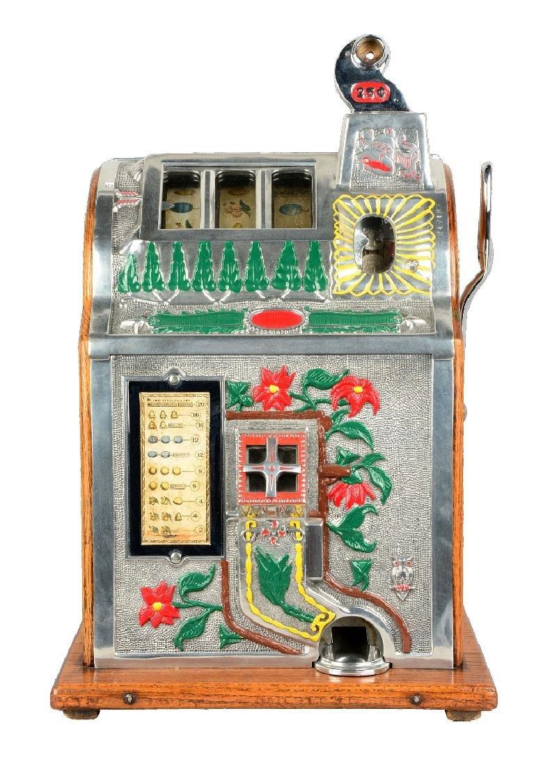 Extremely Rare 25¢ Mills Poinsettia Jackpot Slot