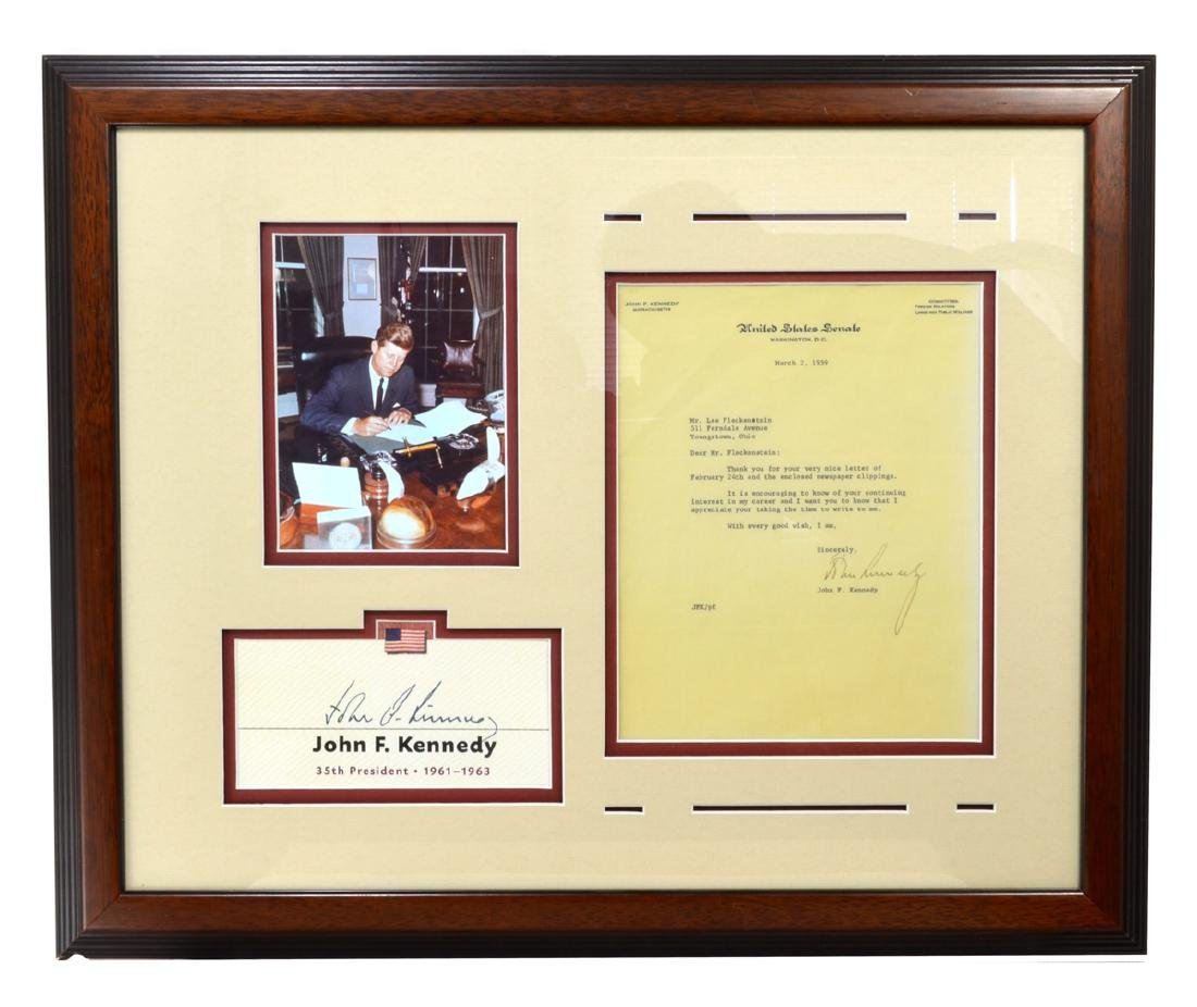 Very Rare Museum Piece Signed John F. Kennedy Letter