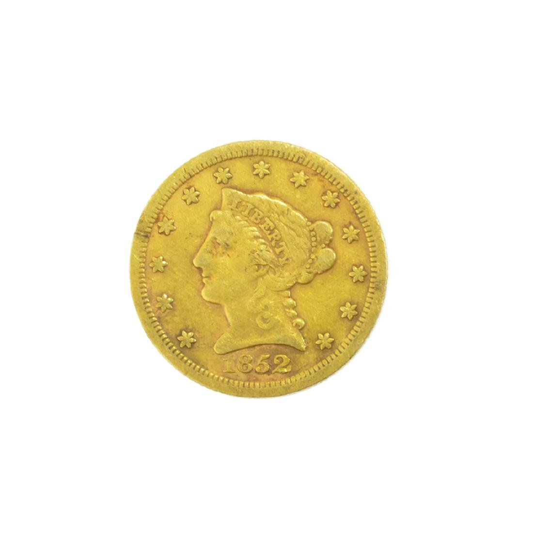 *1852 $2.50 U.S. Liberty Head Gold Coin (JG-MRT)