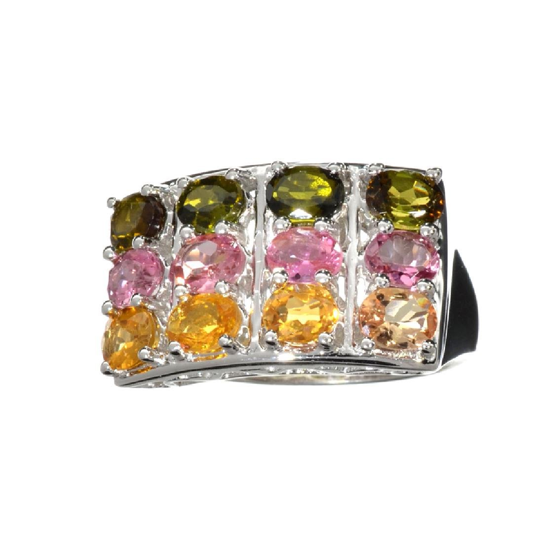 3.72CT Oval Cut Multi-Colored, Multi Precious Gemstones