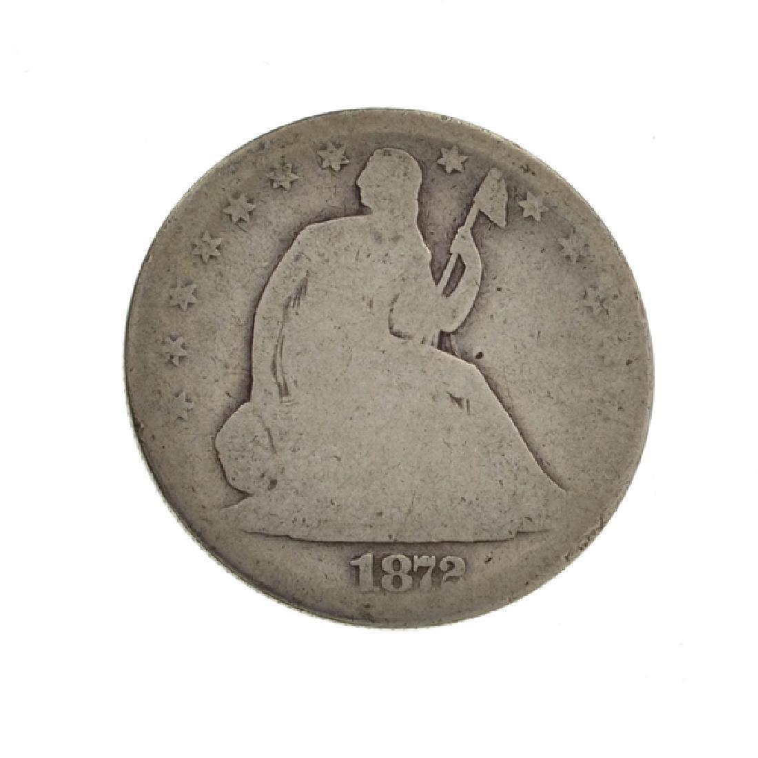 1872 Liberty Seated Half Dollar Coin