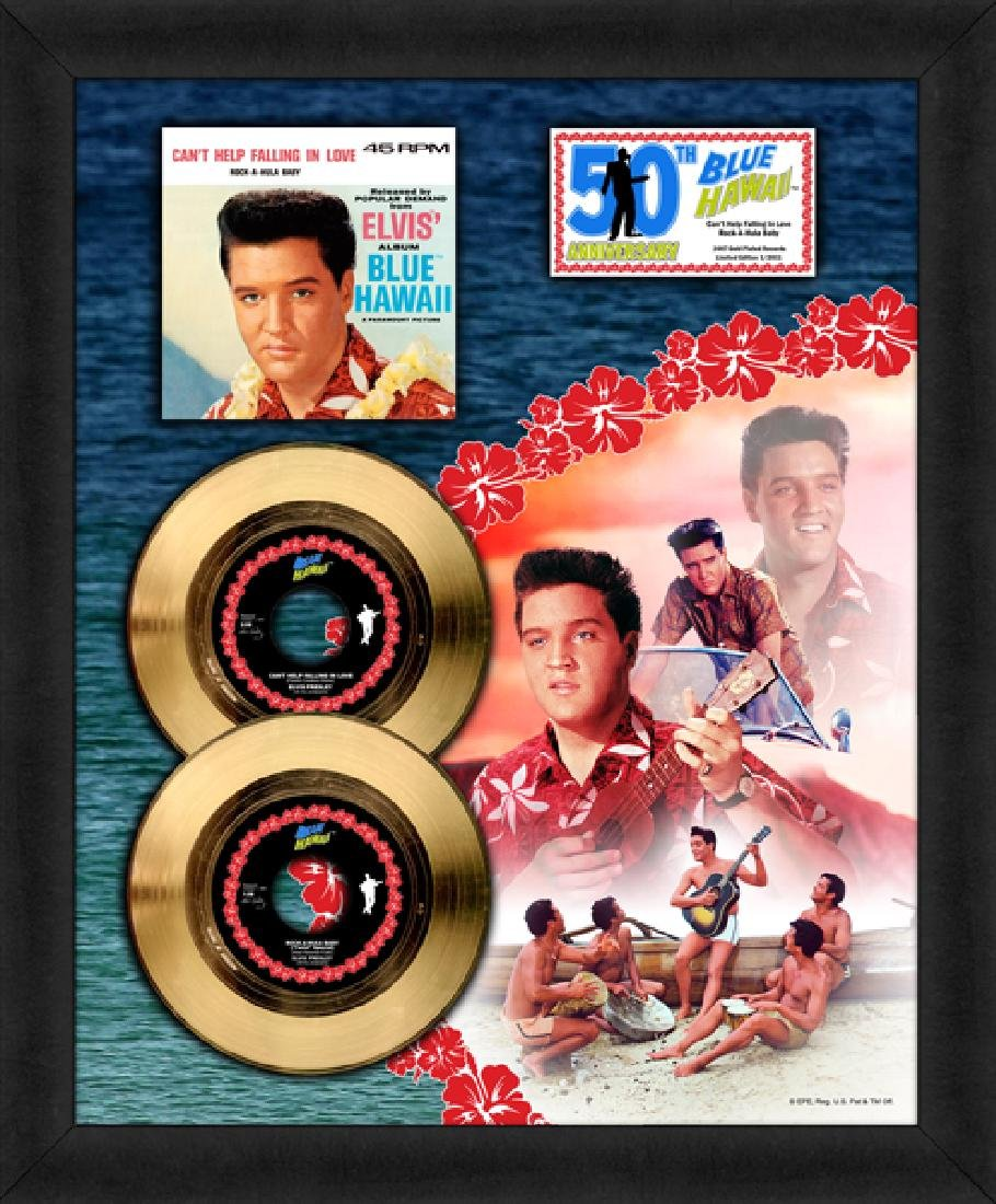 ''Blue Hawaii'' Gold 45 RPM