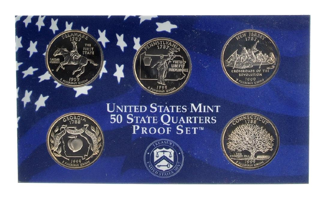 1999 United States Mint Proof Coin Set - 2