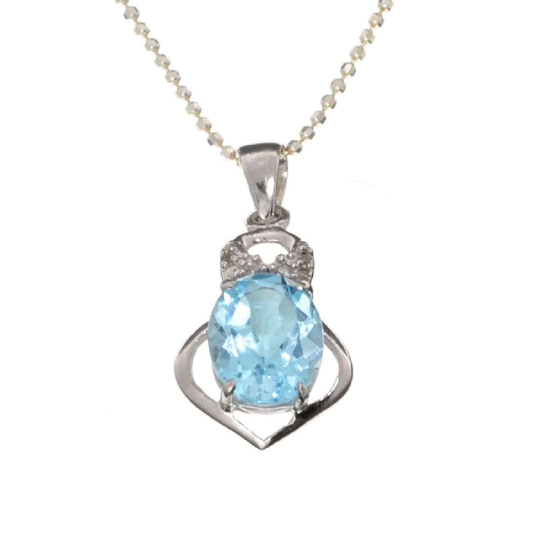 APP: 0.3k Fine Jewelry 2.90CT Blue Topaz And White