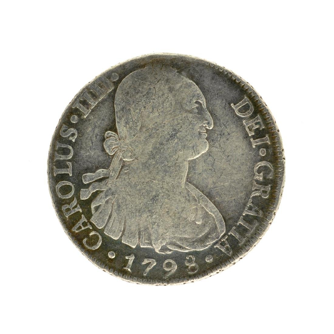1798 Extremely Rare Eight Reales American First Silver