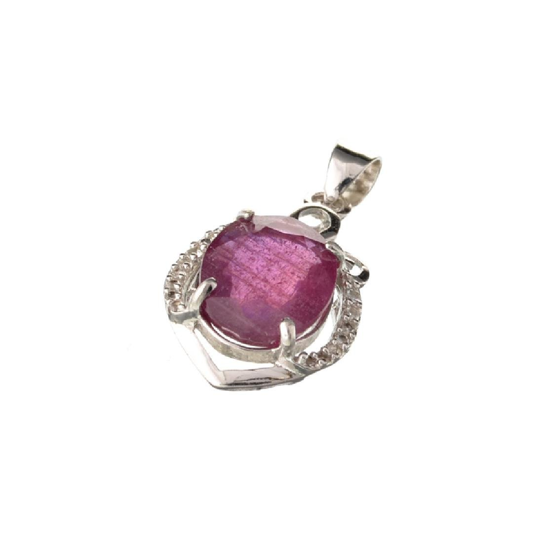 APP: 1.3k Fine Jewerly 4.00CT Oval Cut Ruby And White