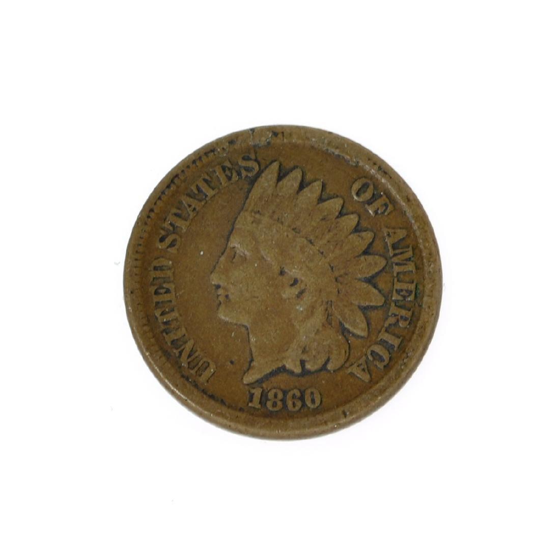 Rare 1860 Indian Cent Coin