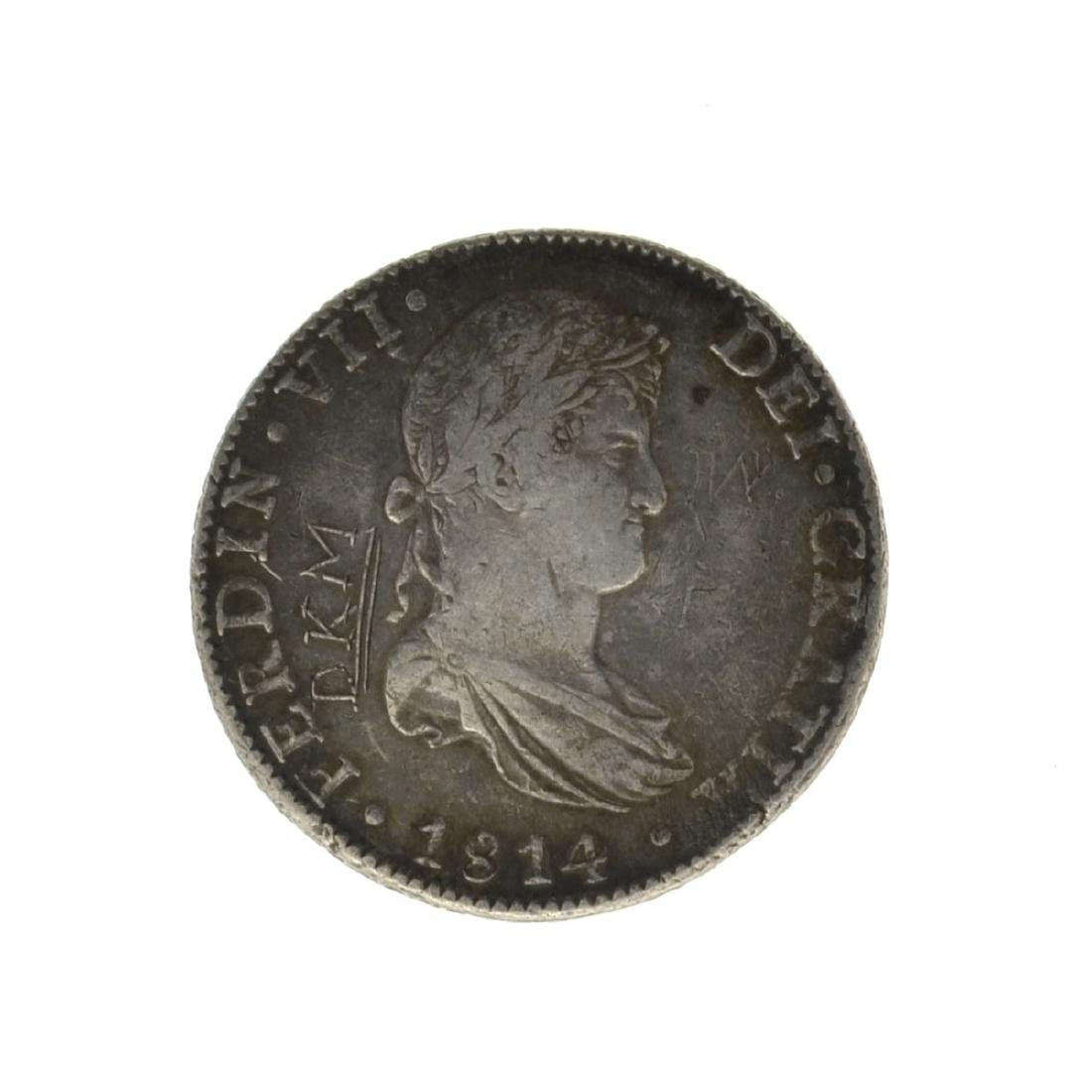 *1814 Eigth Reales American First Silver Dollar Coin -