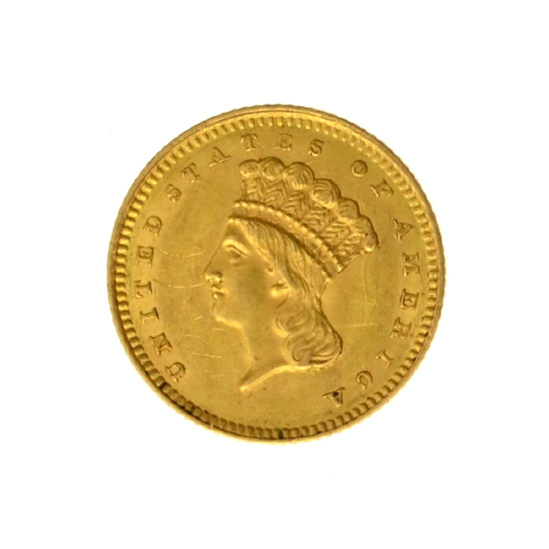 1861 $1 U.S. Indian Head Gold Coin - Great Investment -