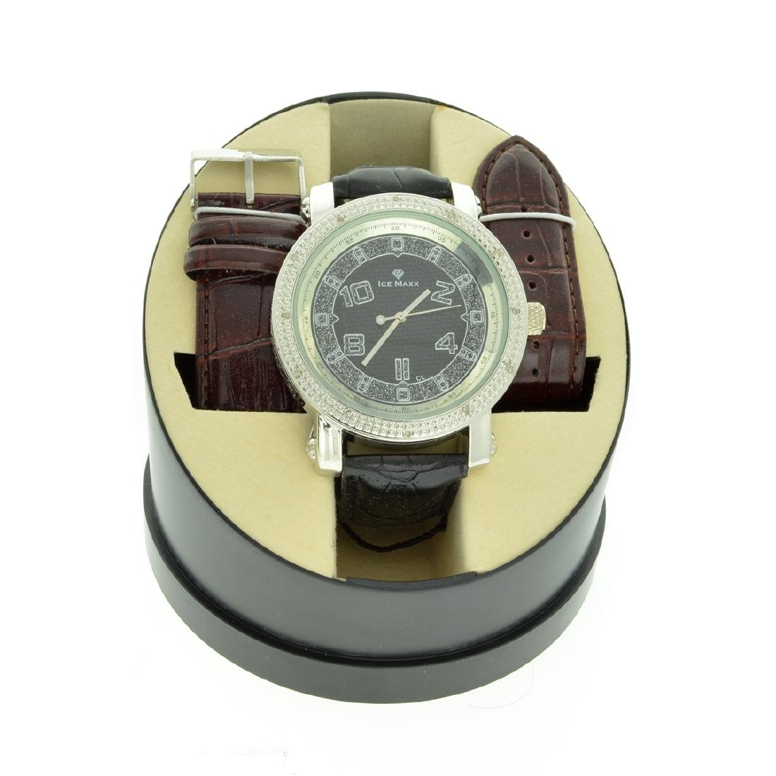 Men's Ice Maxx Designer Round Watch On Case and