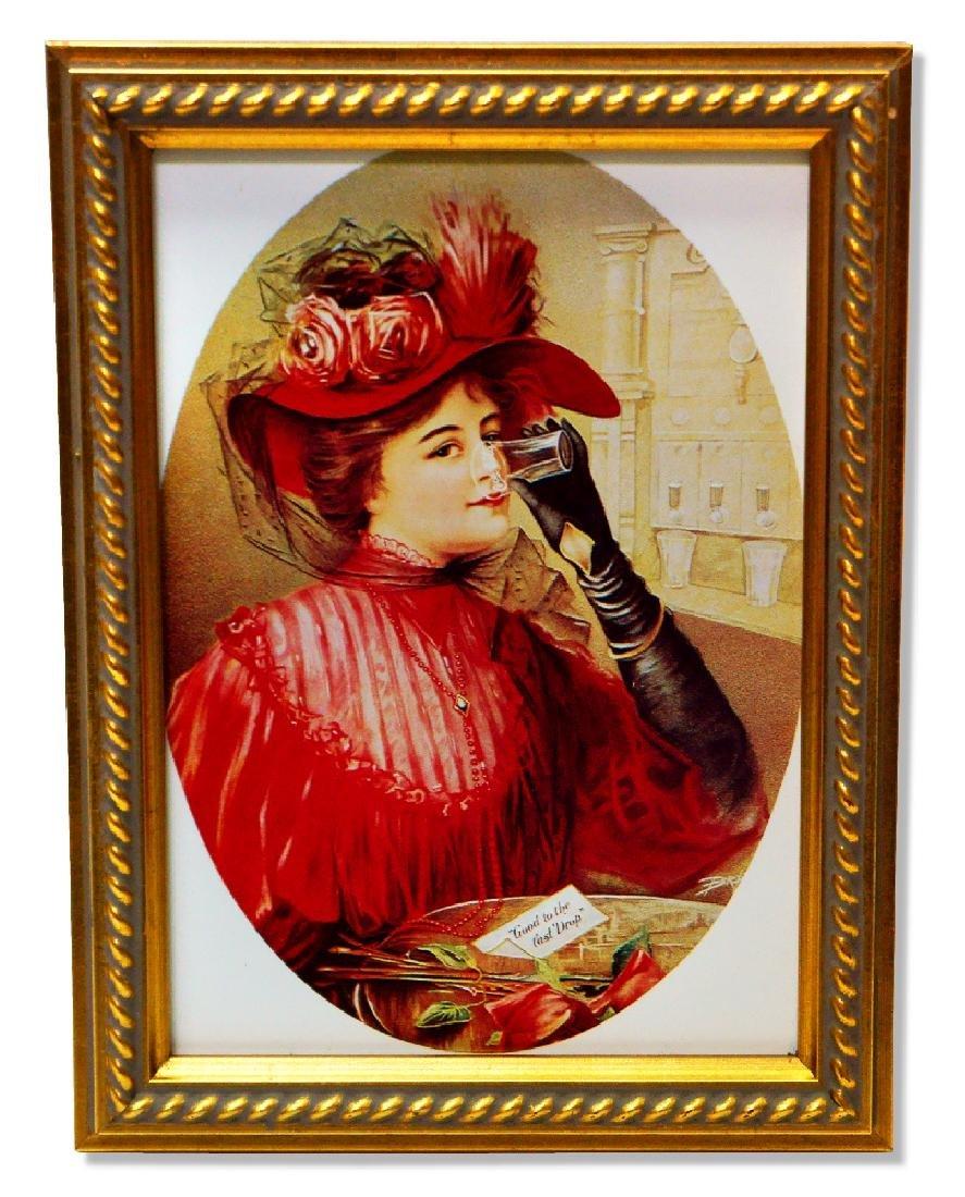Museum Framed Coca-Coca Advertising  9.75x12.5