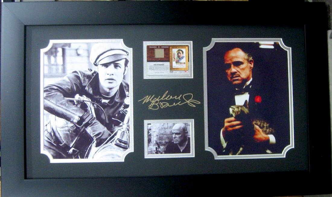 Engraved Marlo Brando Signature With Real Swatch of