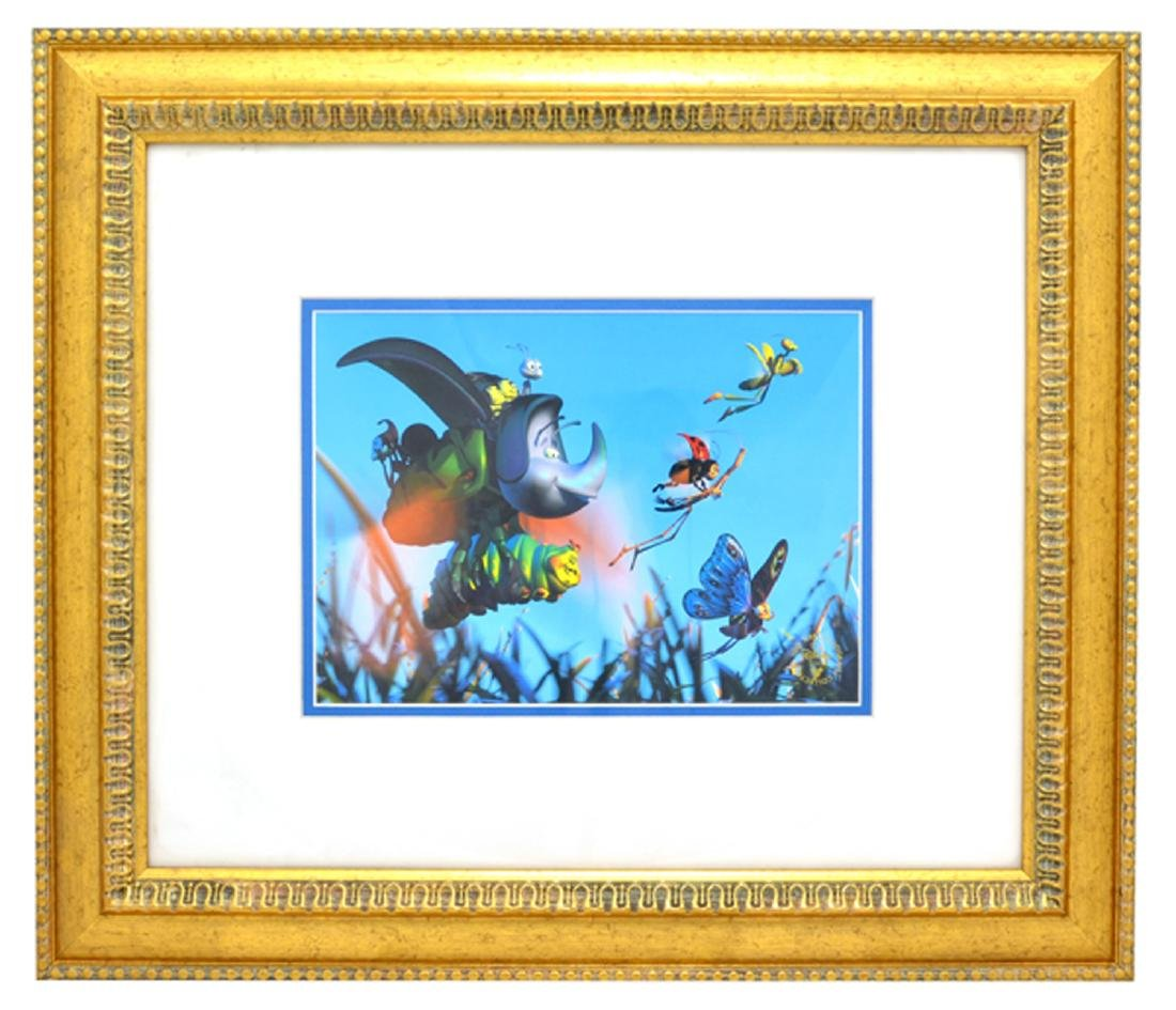DISNEY (After) ''Bugs's Life'' Lithograph Framed 21x19