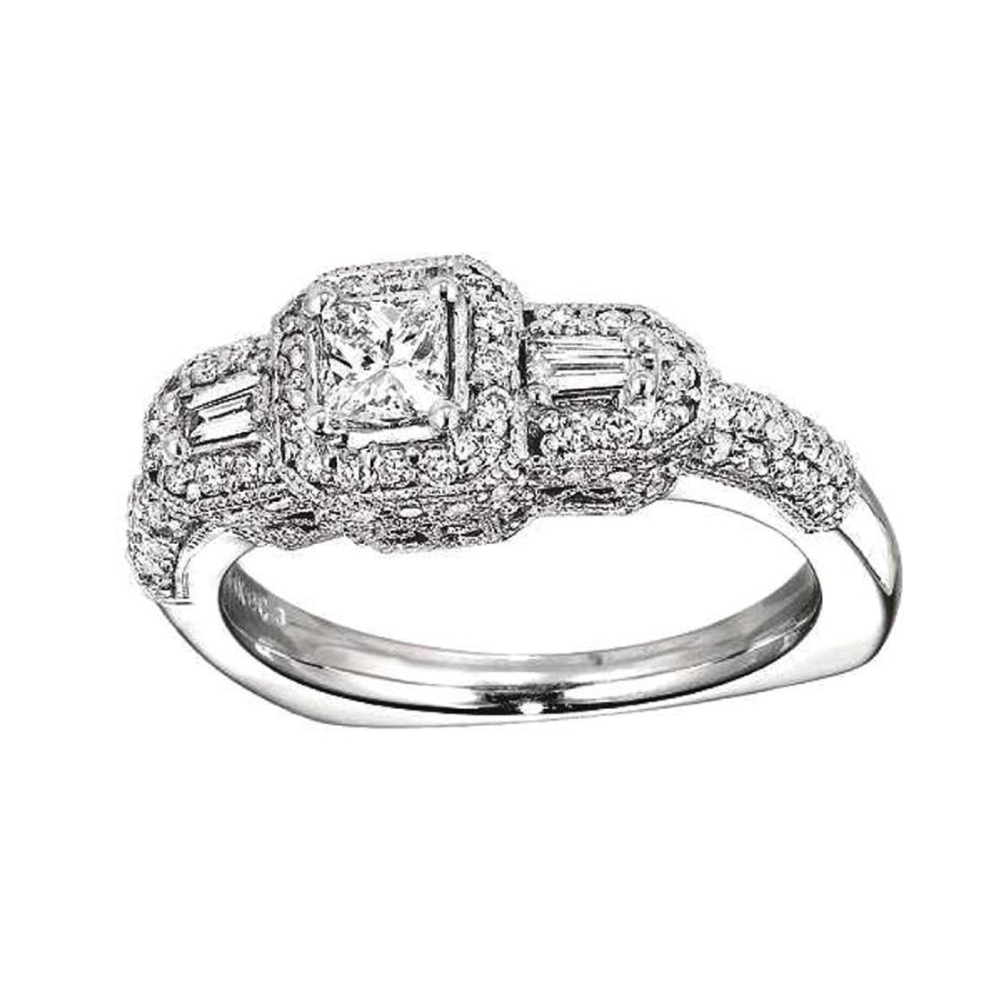*Fine Jewelry, 14KT White Gold, 1.00CT Diamond
