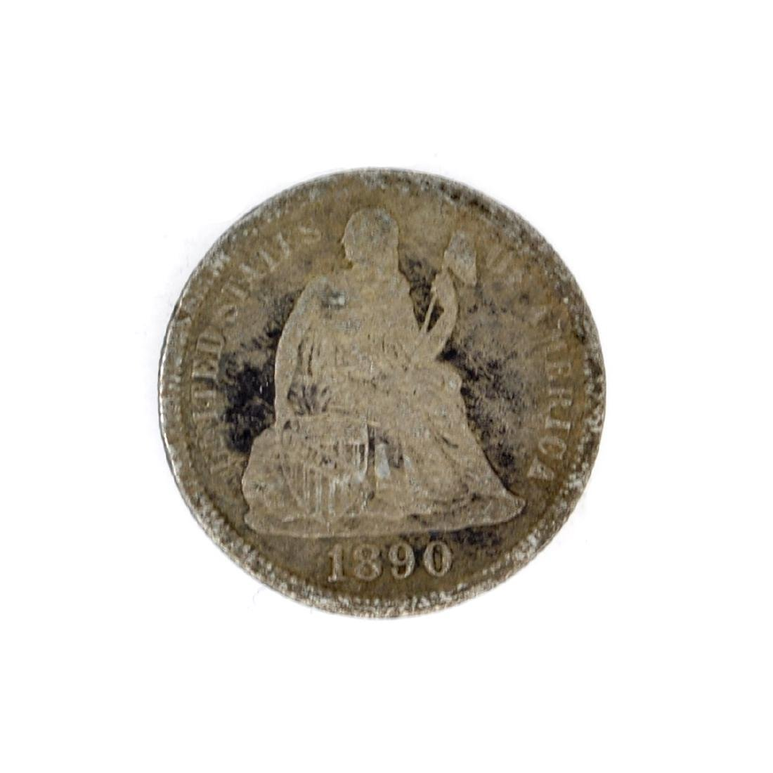 1890 Liberty Seated Dime Coin