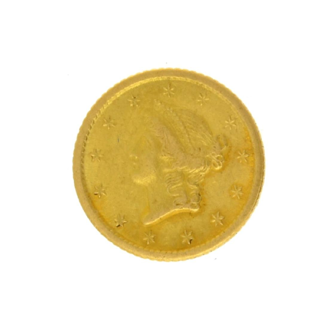1851-O $1 Liberty Head Gold Coin