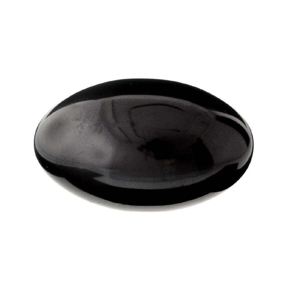 APP: 1.7k Rare 1,292.00CT Egg Cut Black Agate Gemstone
