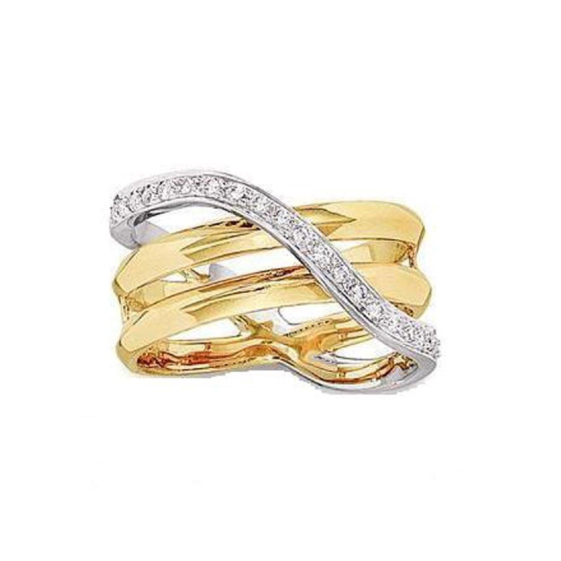*Fine Jewelry, 14KT Two-Tone Gold, 0.32CT Diamond Ring