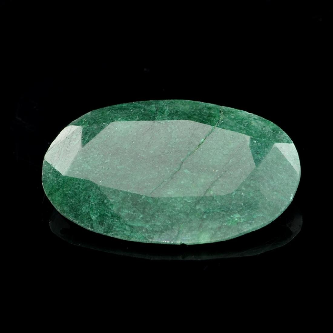 APP: 3k 59.00CT Oval Cut Green Beryl Emerald Gemstone