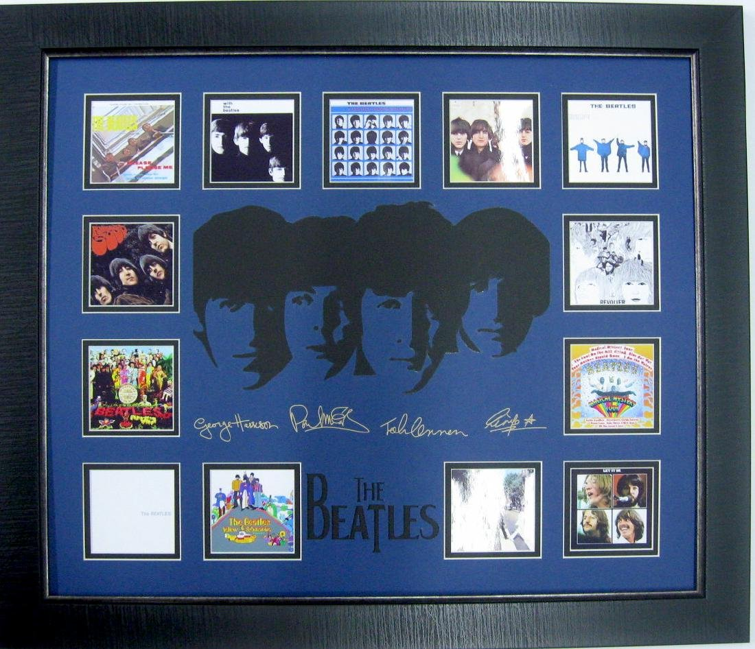 Beatles Engraved Signatures and Album Covers