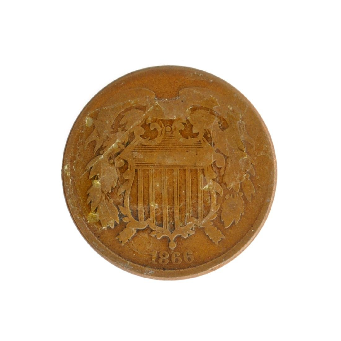 1866 Two-Cent Coin