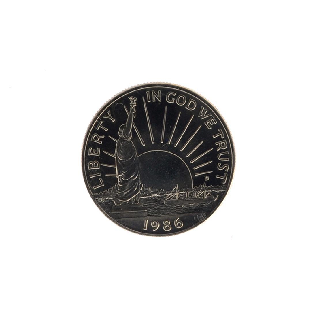 1986 Uncirculated Liberty Half Dollar Coin