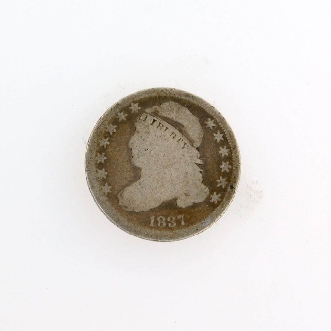 1837 Capped Bust Dime Coin
