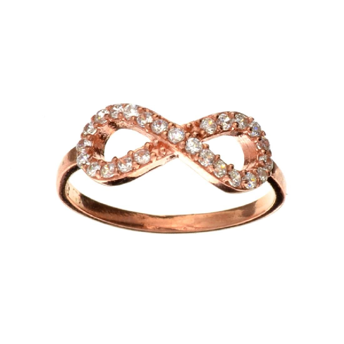 Fine Jewelry Rose Gold Over Sterling Silver French