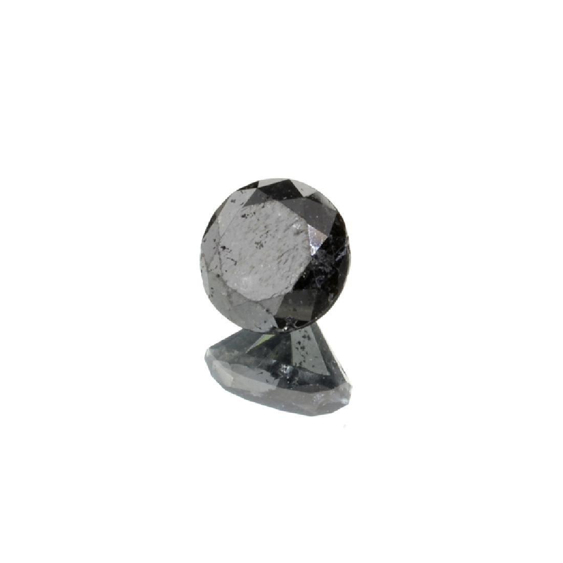APP: 4.9k 4.47CT Round Cut Rare Black Diamond Gemstone