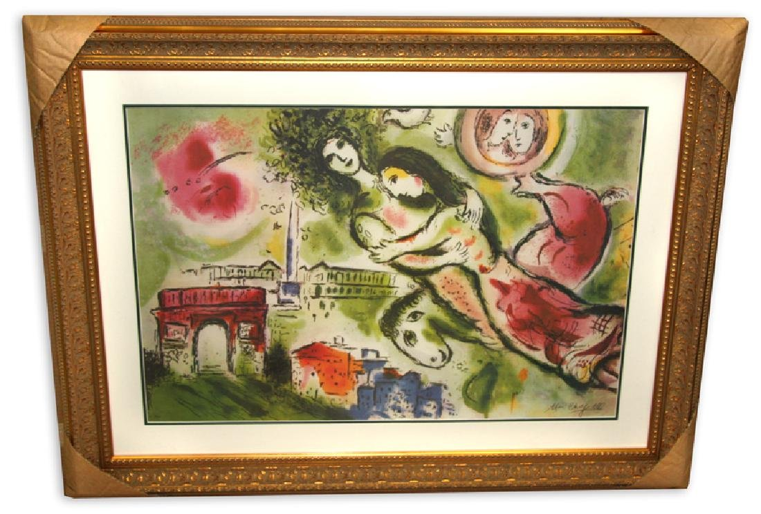Marc Chagall (After) 'Romeo and Juliet' Museum Framed &