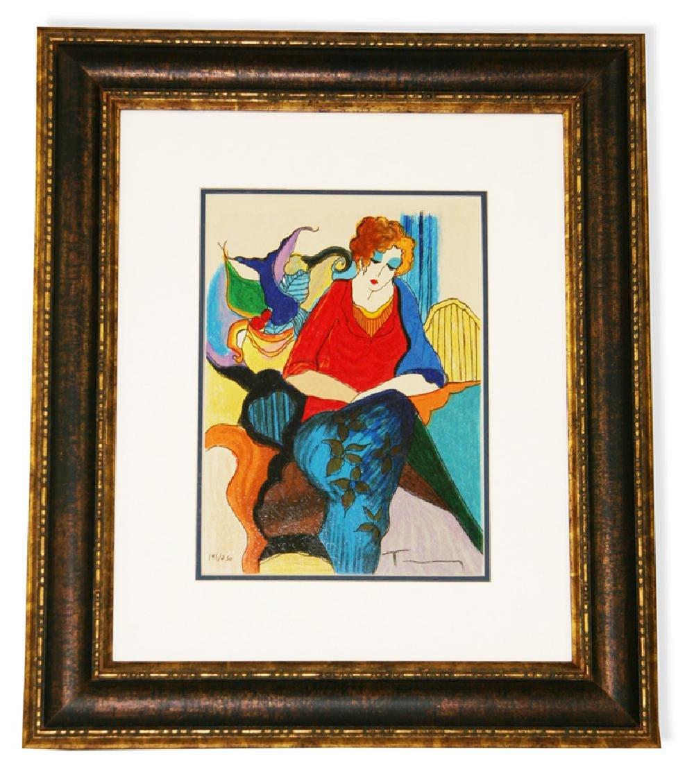 Tarkay- Framed Lithograph-Original Signature