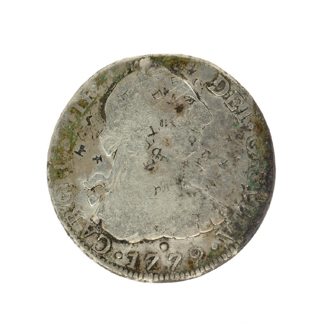 1779 Extremely Rare Eight Reales American First Silver