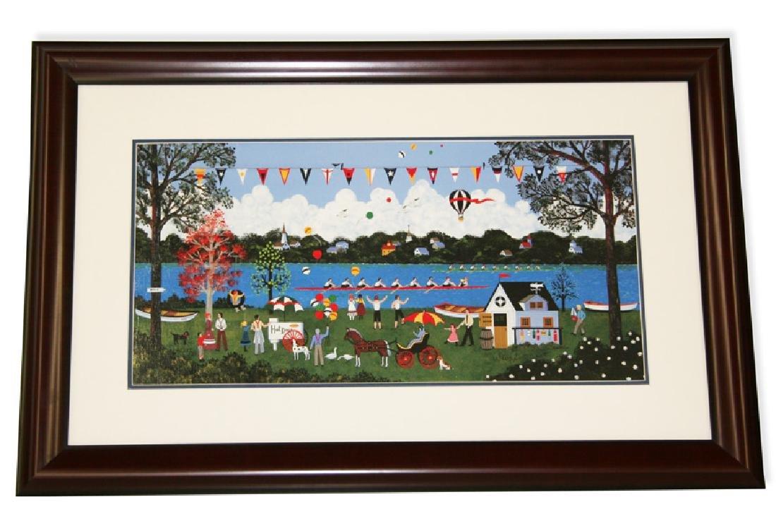 Wooster Scott- Framed-Signed ''Regatta on the Potomac''