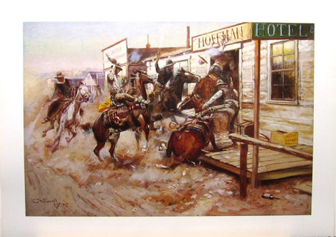 CHARLES M. RUSSELL (After) In Without Knocking Print,