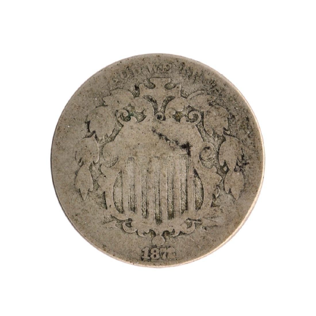 1872 Shield Nickel Coin