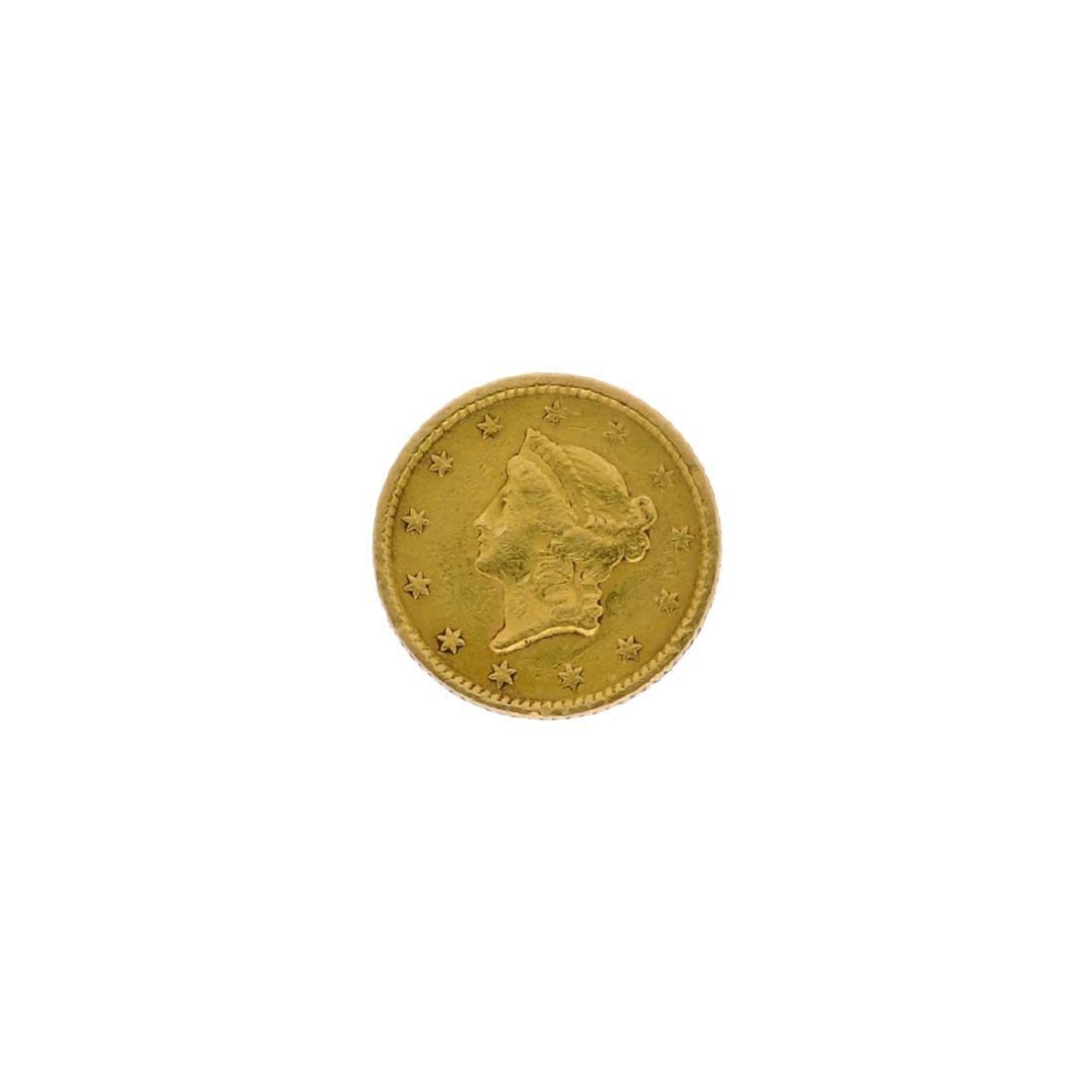 1851 $1 U.S. Liberty Head Gold Coin
