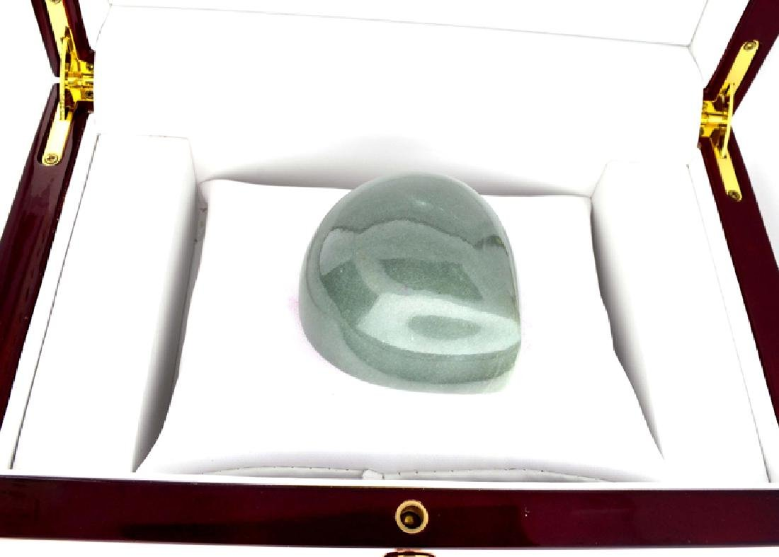APP: 9.9k 989.00CT Pear Cut Cabochon Jade Gemstone - 2