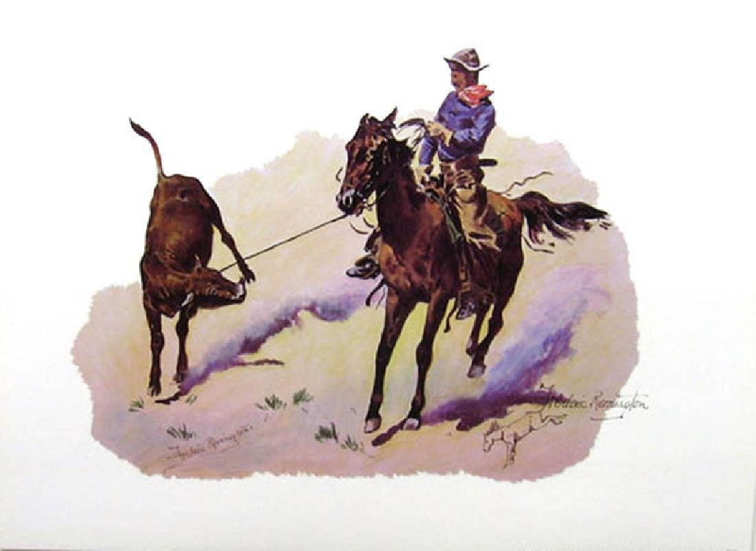 FREDERIC REMINGTON (After) Cowboy Leading Calf Print,
